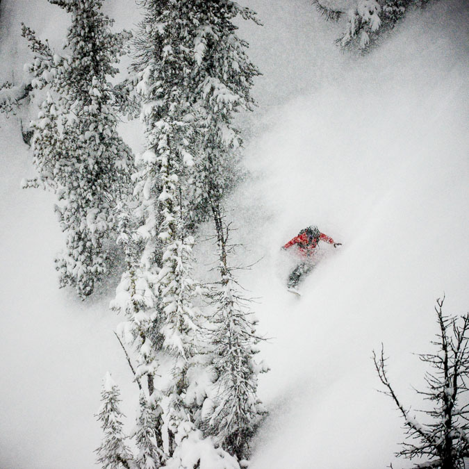 Now this is what SKIBC is all about, deep powder on empty slopes. Love it!