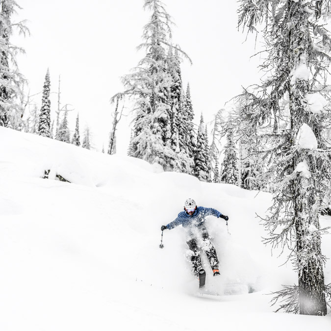 More than just the SKIBC photographer, I set down my camera for a turn in the pillows at Whiterwater Resort.