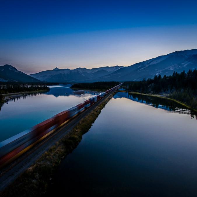 Travel Your Way: CN and Via Rail runs through Jasper National Park.