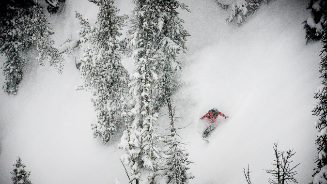 Snowboard Photography: Leanne Pelosi gets some POW at Kicking Horse Mountain Resort.