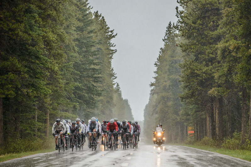 The Lake Louise Road Race was plagued by freezing temperatures and pouring rain.