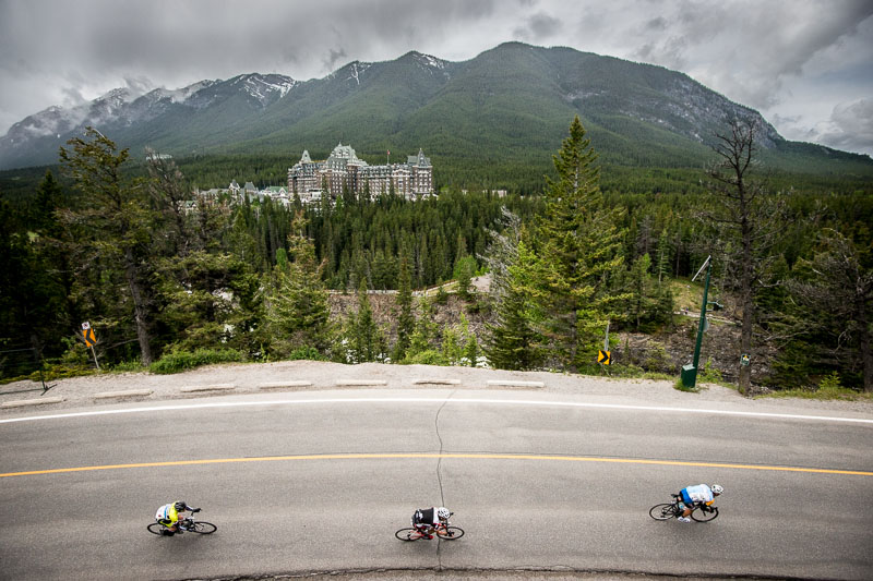 Suprise Corner, featured in both the prologue and Tunnel Mountain Trail Race, was the highlight of the Banff Bike Fest.