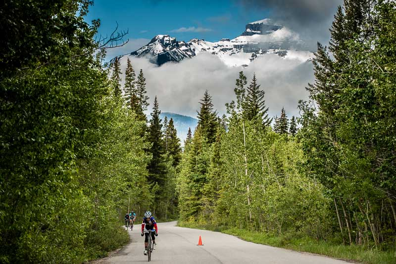 The Banff Bike Fest ITT was shorter than in years past, but the route along teh Vermilion Lakes Road was spectacular.
