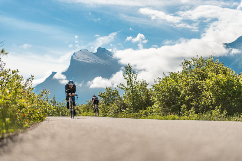 The Vermilion Lakes ITT was only 8 kms long and the top riders finished in under 10 minutes.