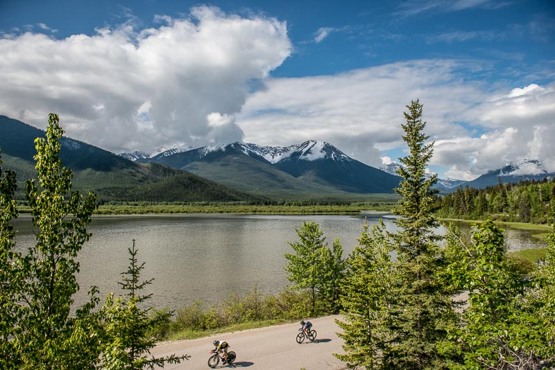 Starting at 30 second intervals wasn't enough to keep riders from catching one another during the Banff Bike Fest ITT