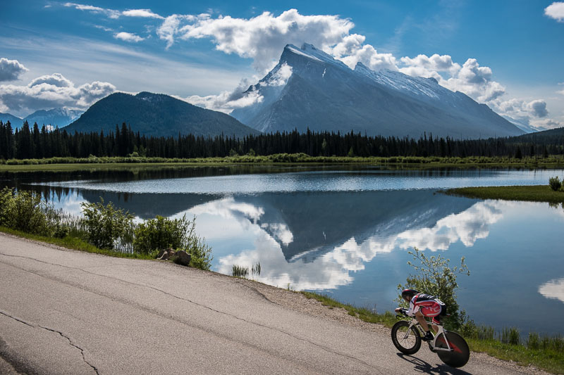 And another look at Mt Rundle. Is there a better backdrop to a cycling event in the world?