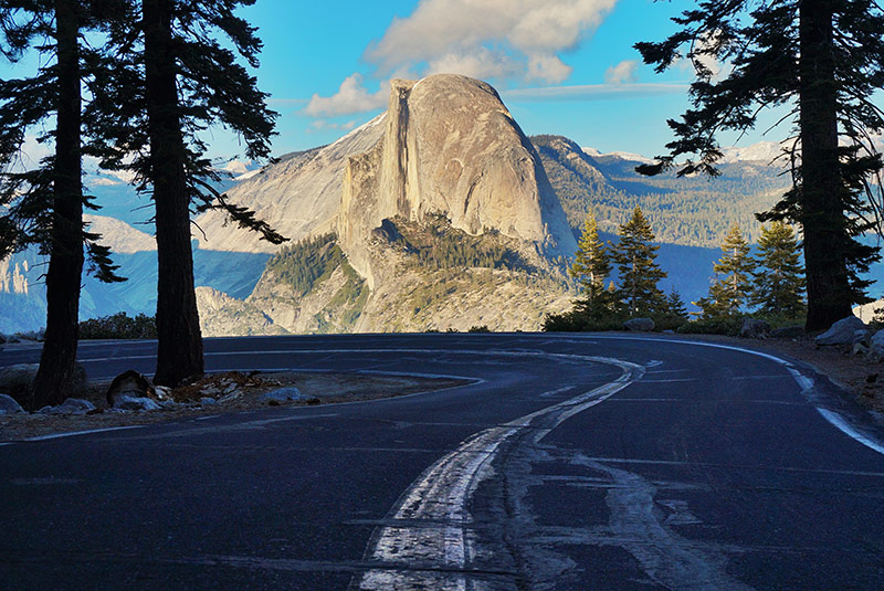 The road to Half Dome, in Yosemite National Park, edited on my iPad.
