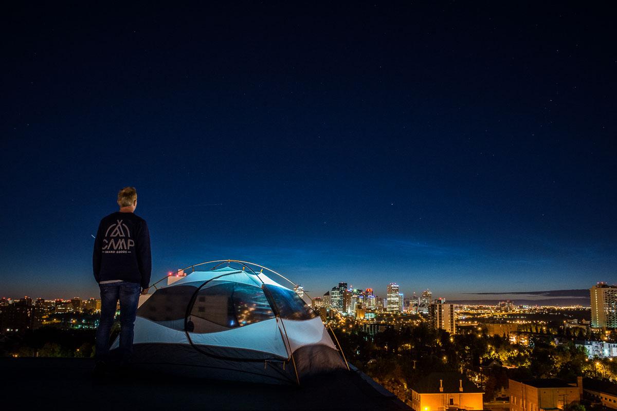Nightfall in Edmonton, Alberta