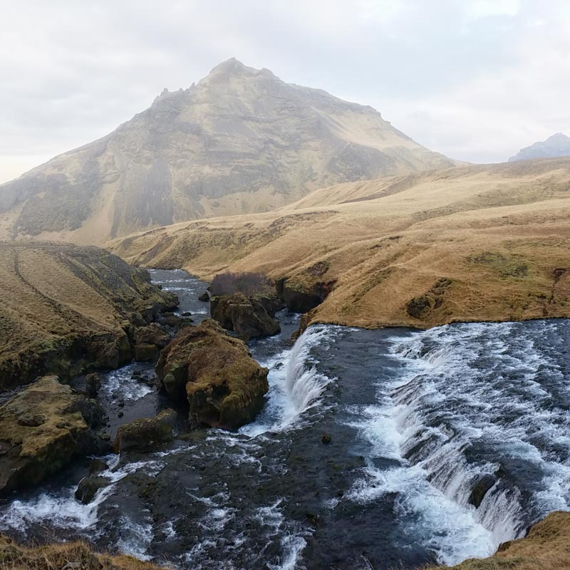 Just above Skogarfoss in Iceland with my Samsung Galaxy S5 Active.