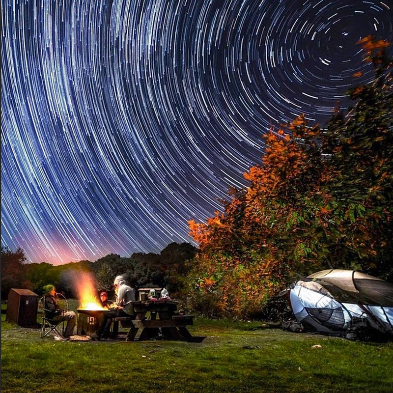 Star trails by Sean Parker