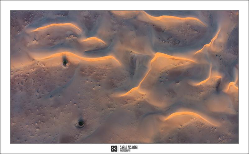 Sand dune aerials by Landscape Photographer Sarah Alsayegh