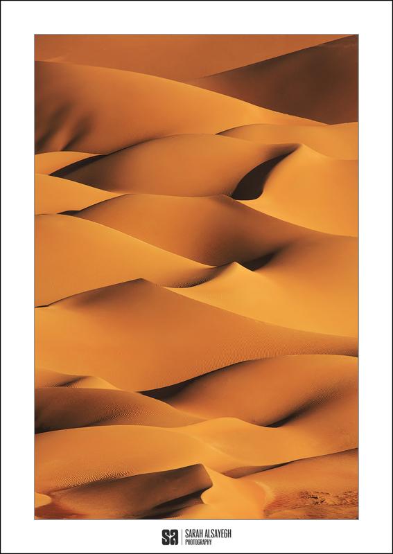 A stunning sand dune image by Kuwai-based Photographer Sarah Alsayegh