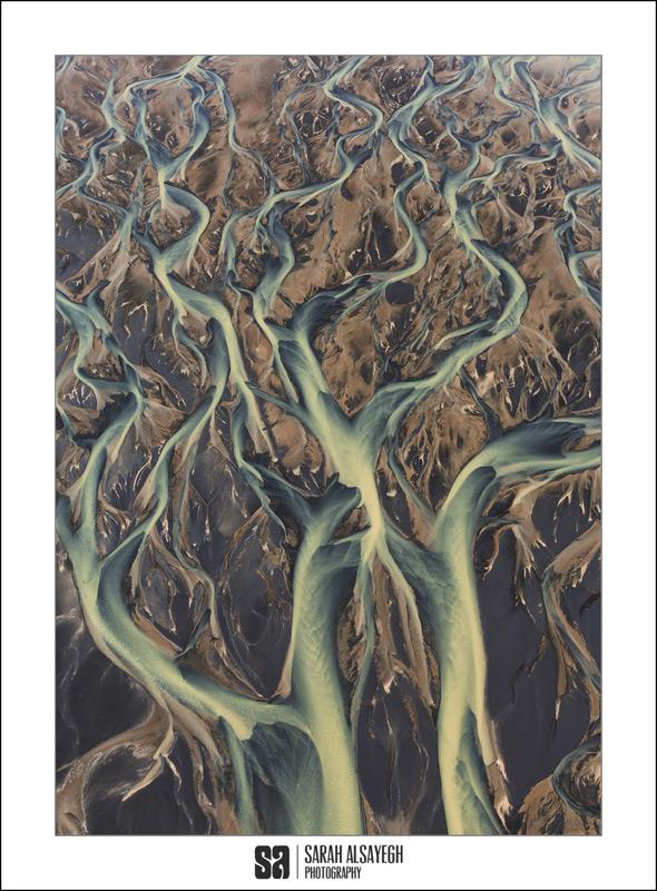 Instagram Series Images: A stunning river delta landscape image by Kuwait-based Photographer Sarah Alsayegh