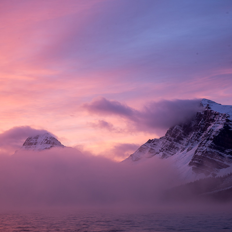 The bow lake sunrise that essentially broke the internet.