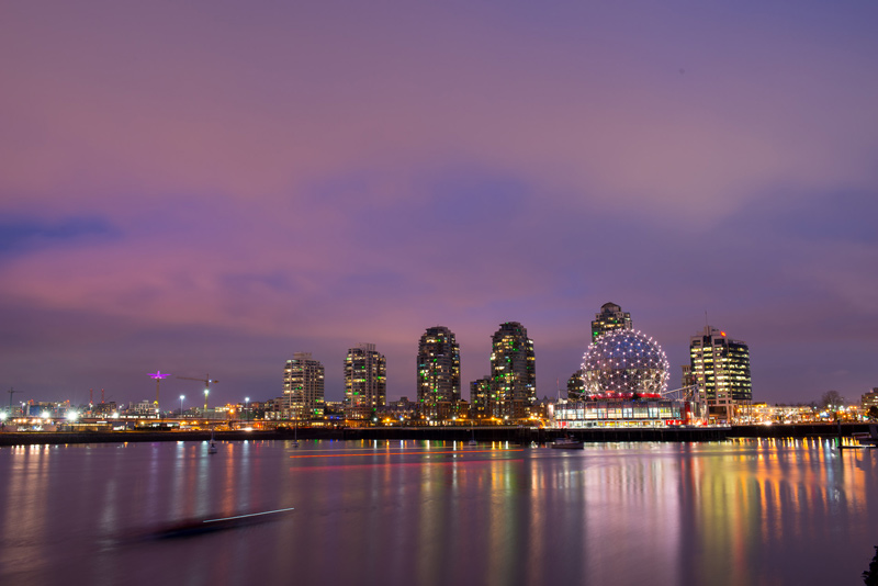 The Vancouver cityscape from False Creek.
