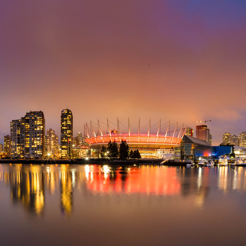 BC Place from False Creek in British Columbia