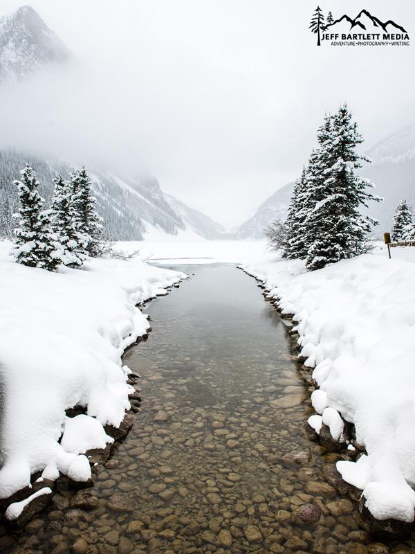 Winter at Lake Louise, alberta, Canada