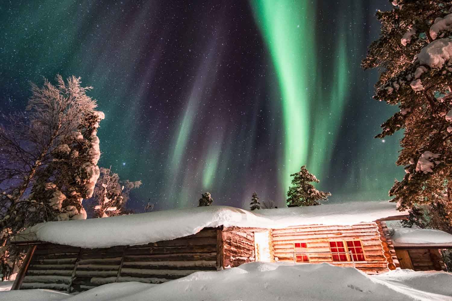 Exploring the Elements: Air at its finest, displaying the Aurora Borealis in Finland.