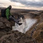 Hanging out above Gullfoss, far away from the crowds.