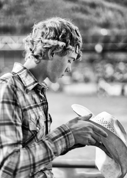 A cowboy at the Jackson, Wyoming, Rodeo.