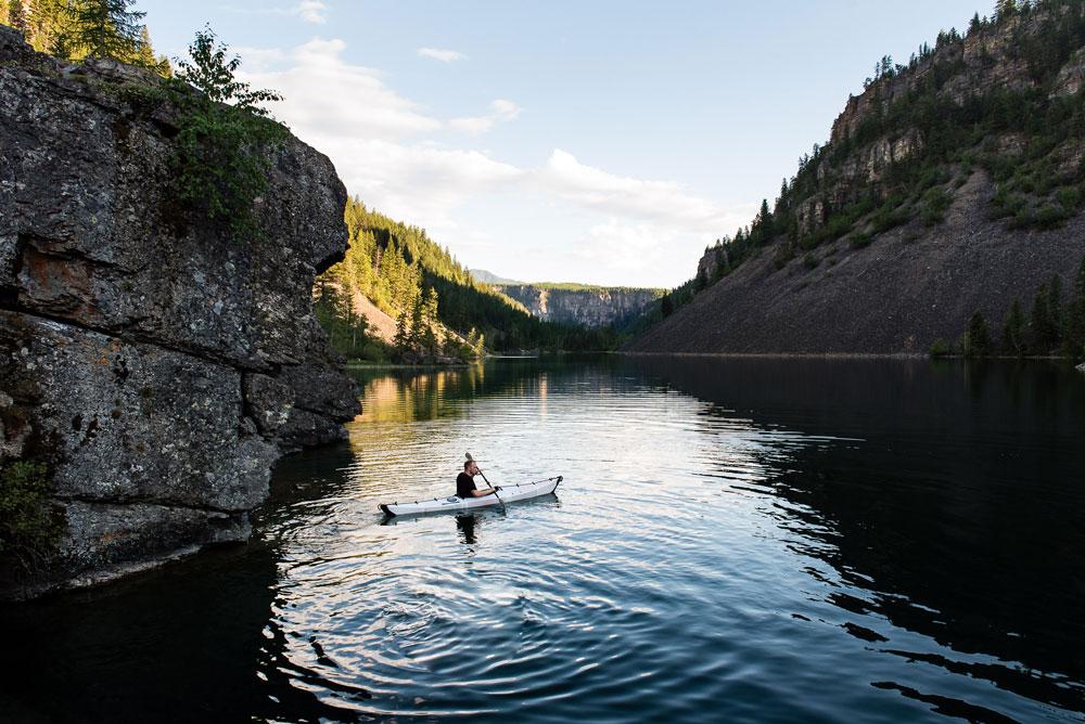 Taylor Burk paddling on Silver Springs Lake