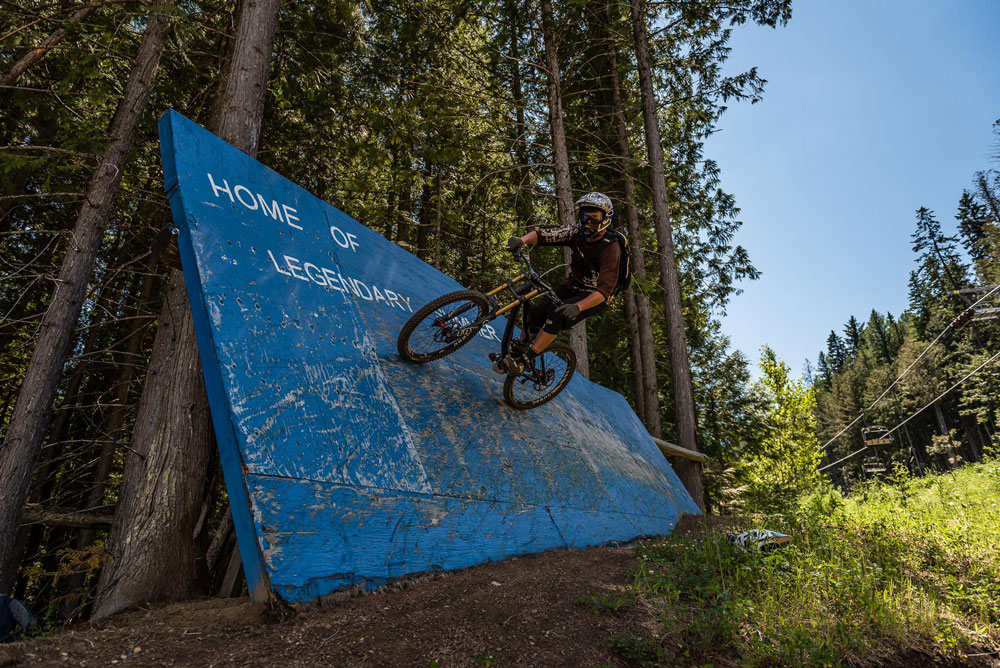 Nick Nault getting vertical on the wall ride