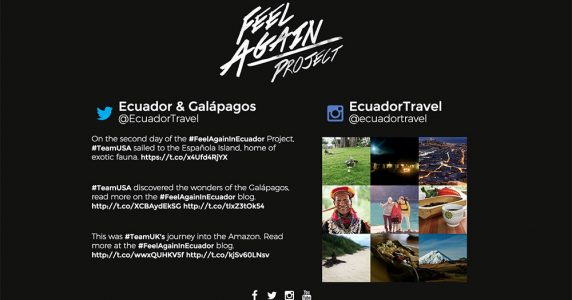 Feel again project in Ecuador logo and introduction