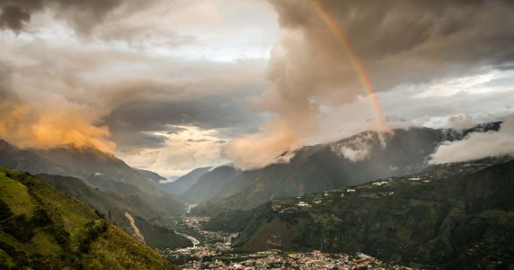 Rainbows, dramatic light, and wild landscapes define Ecuador