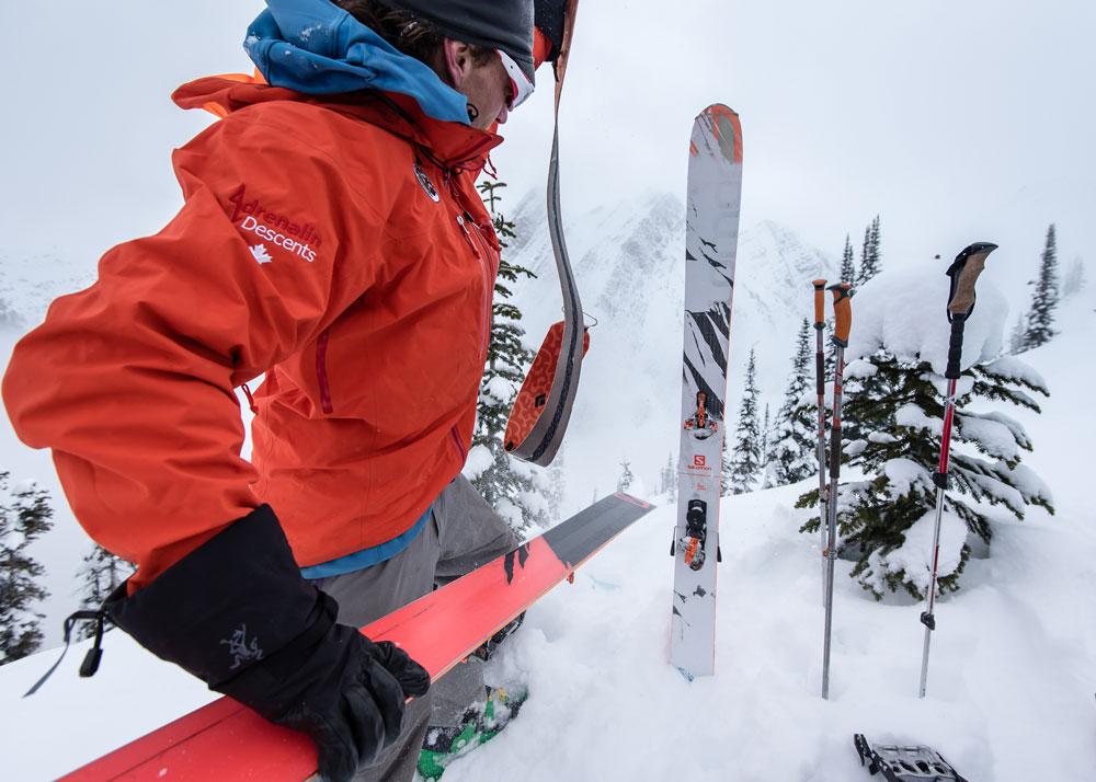 Adrenalin Descents guide Scott Belton prepares for a downhill