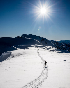 Sunflares and ski tours in the BC mountains
