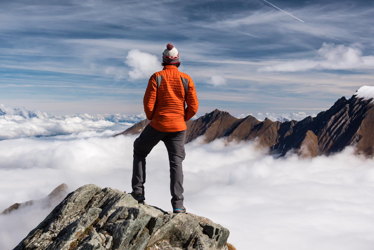 Standing above the clouds!