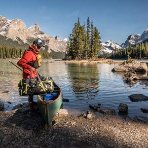 A canoe adventure on maligne lake in jasper national park