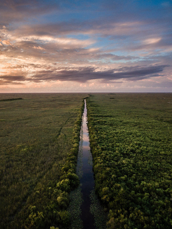 High above the florida everglades with a dji drone