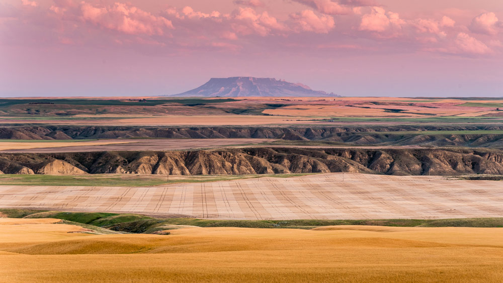 The Montana landscape is layers deep