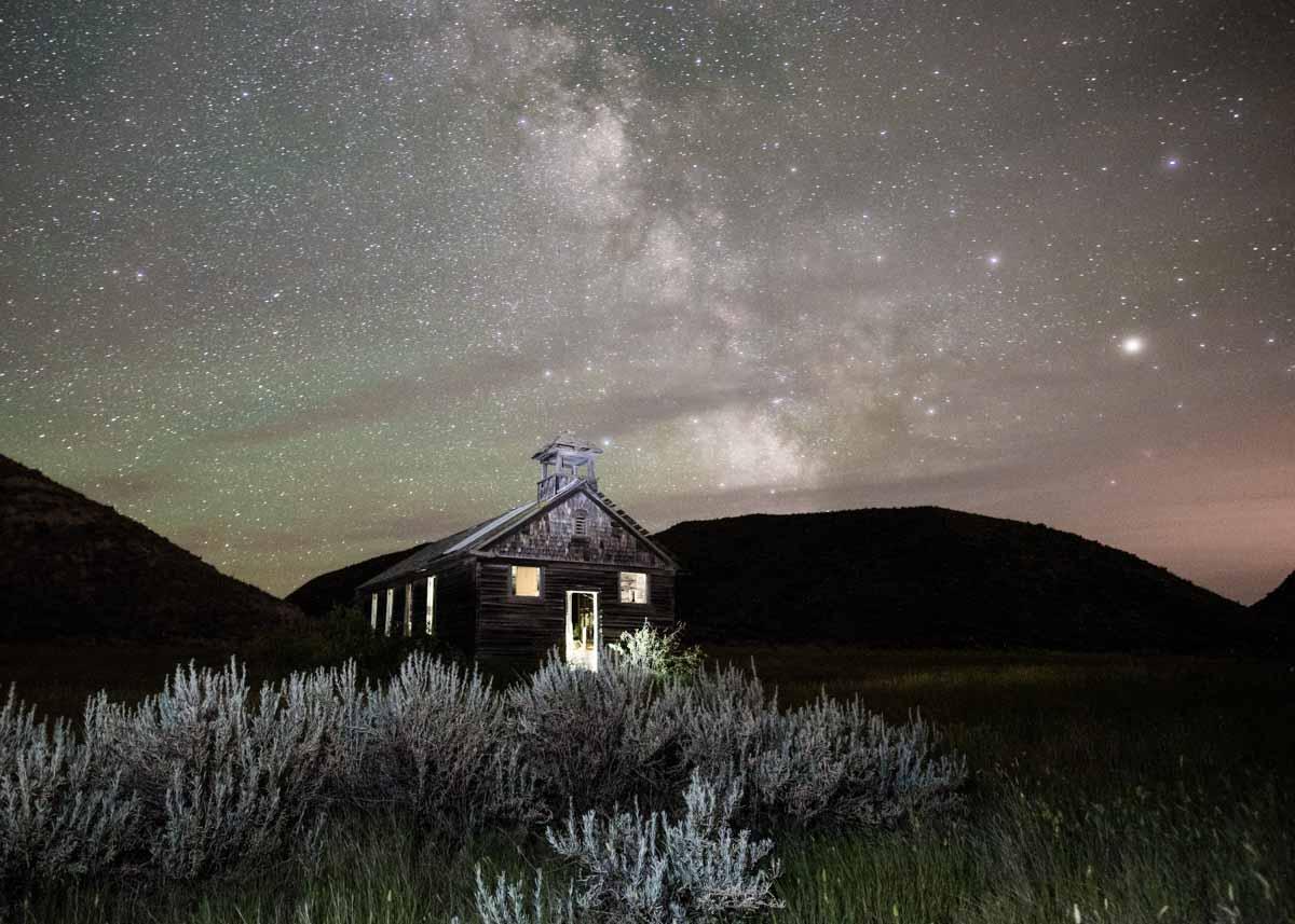 Night sky above Montana