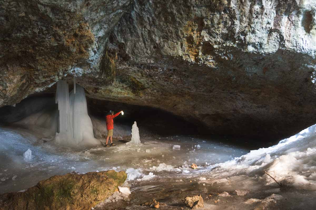 Ice caves near Crystal Lake made the prefect stop during my montana road trip