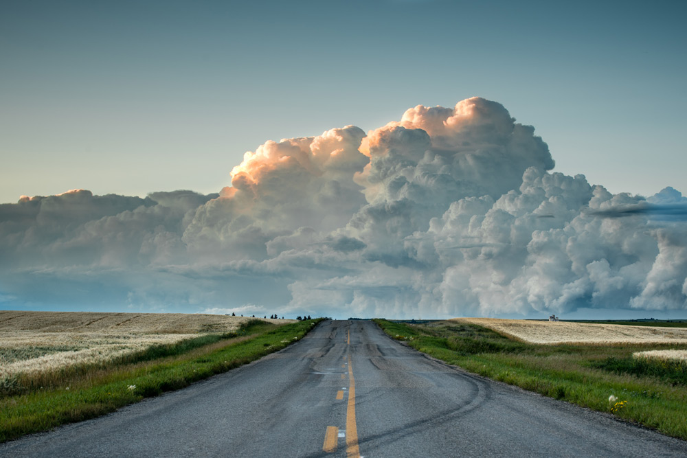 Thunderstorms roll across the prairies