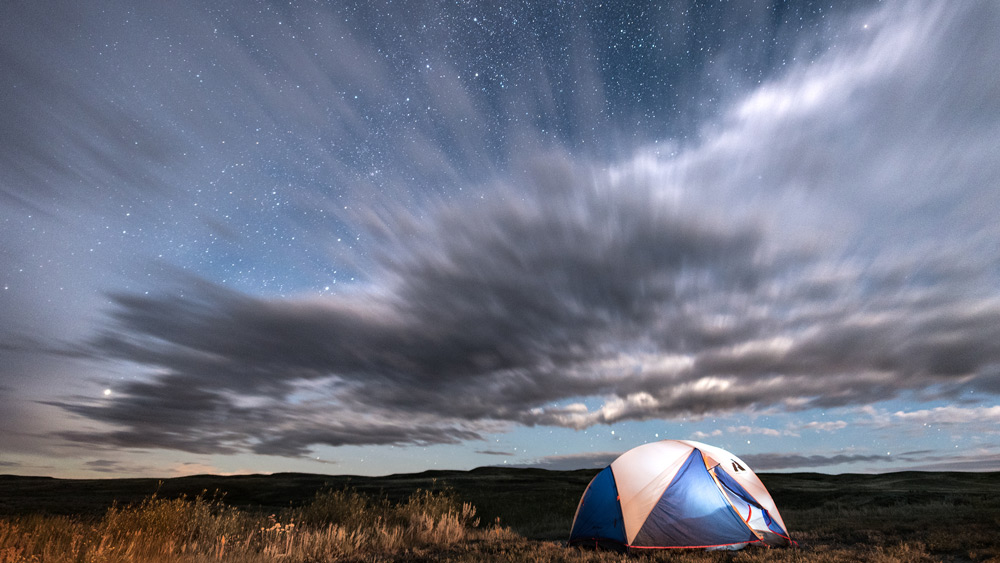 My eddie bauer stargazer tent lies in its element in Saskastchewan