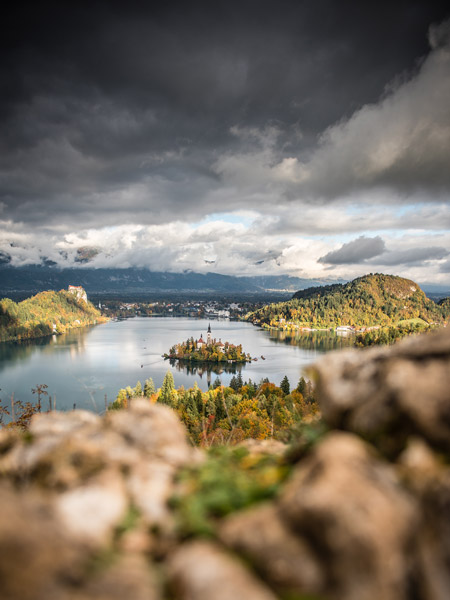 Unique views of Lake Bled, Slovenia, thanks to an unusual foreground.