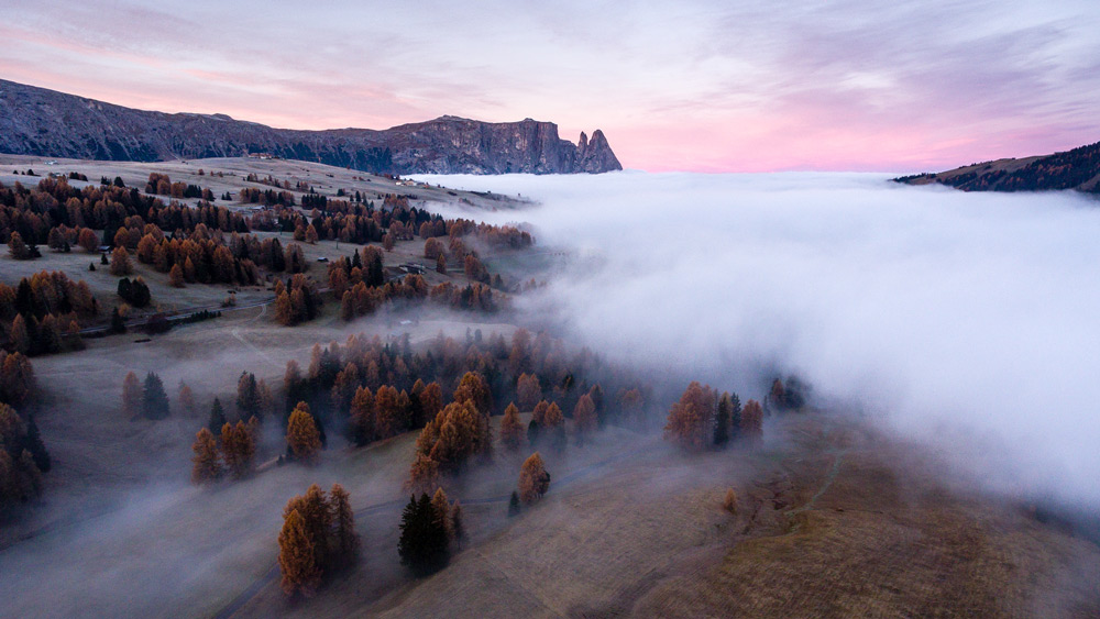 The stunning sunrise in Alpe de Siusi wouldn't have been possible without my partnership with eurail