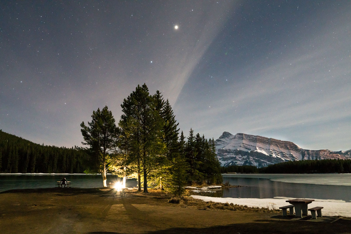 Adding light is a quick way to improve a night sky photograph