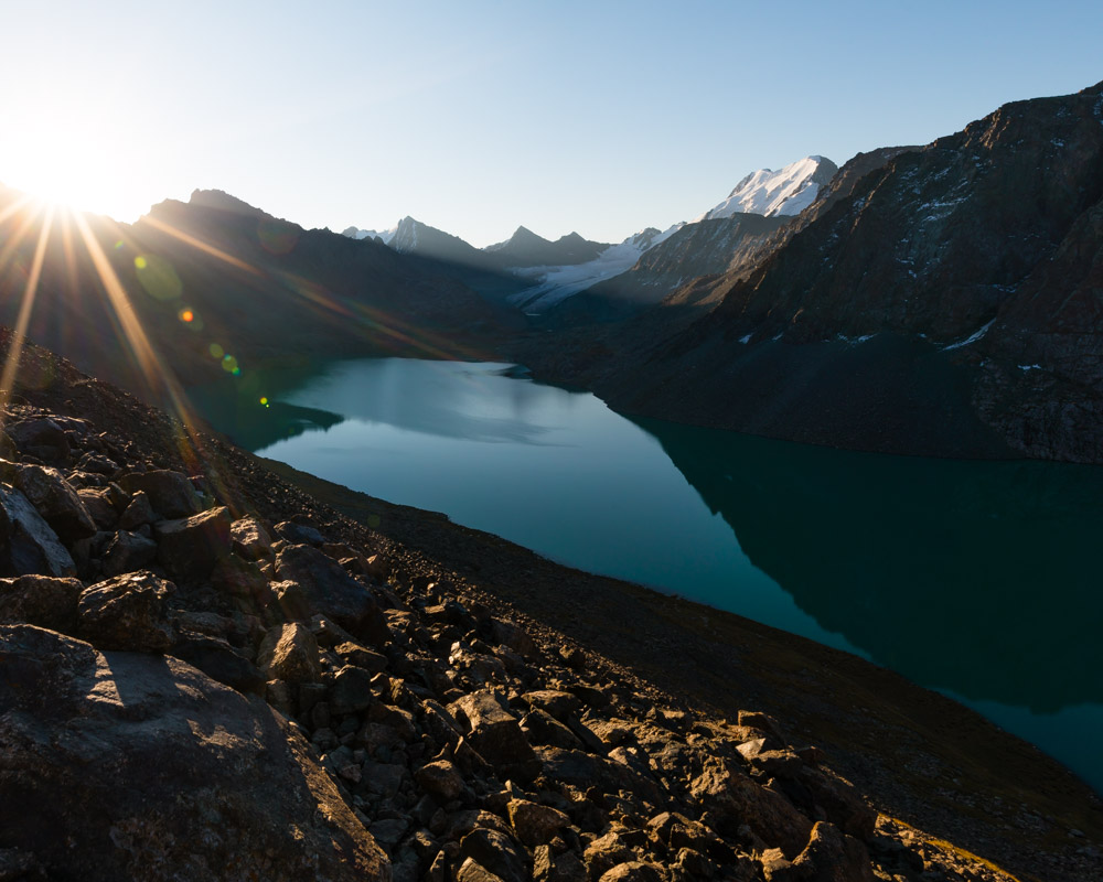 The hike in kyrgyzstan season lasts from july to september