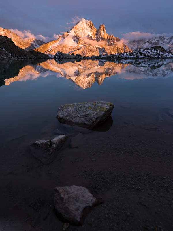 A month of hiking was coming to a close, but we snuck in one last day to enjoy this Lac Blanc Sunset