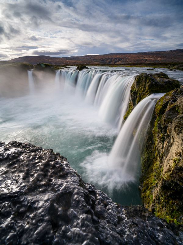 Godofoss is a stunning waterfall located just steps off Iceland's ring road