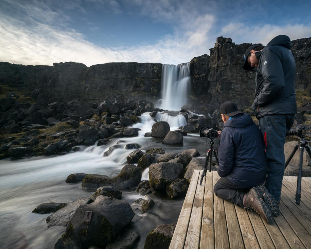 Leading our photography workshop in Iceland