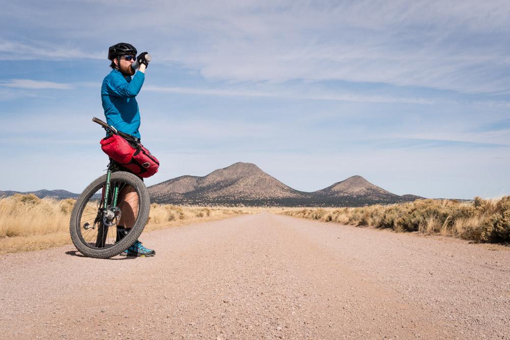 A stunning roadside stop in the empty desert