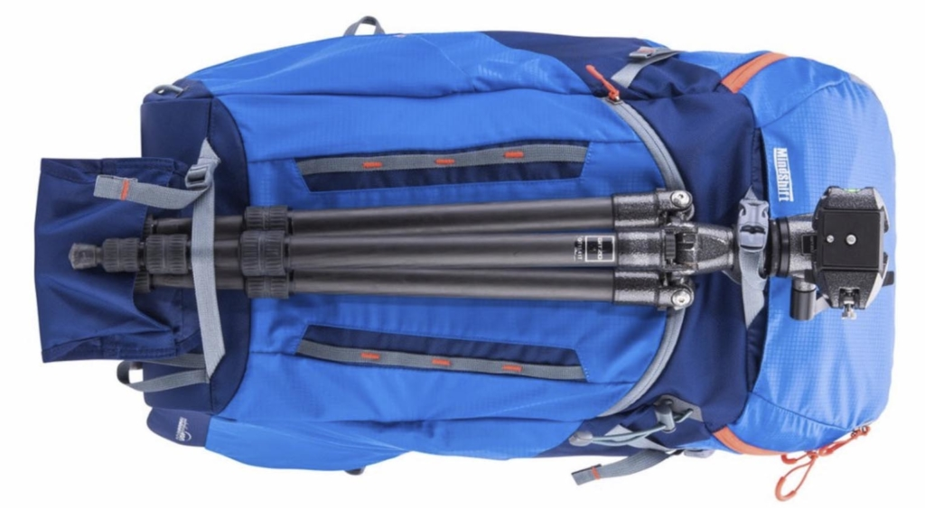 the Mindshift Gear rotation180° Horizon 34L camera backpack tripod carry system