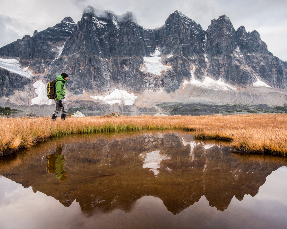Hiking in the canadian rockies is wherevthe Mindshift Gear rotation180° Horizon 34L will excel.