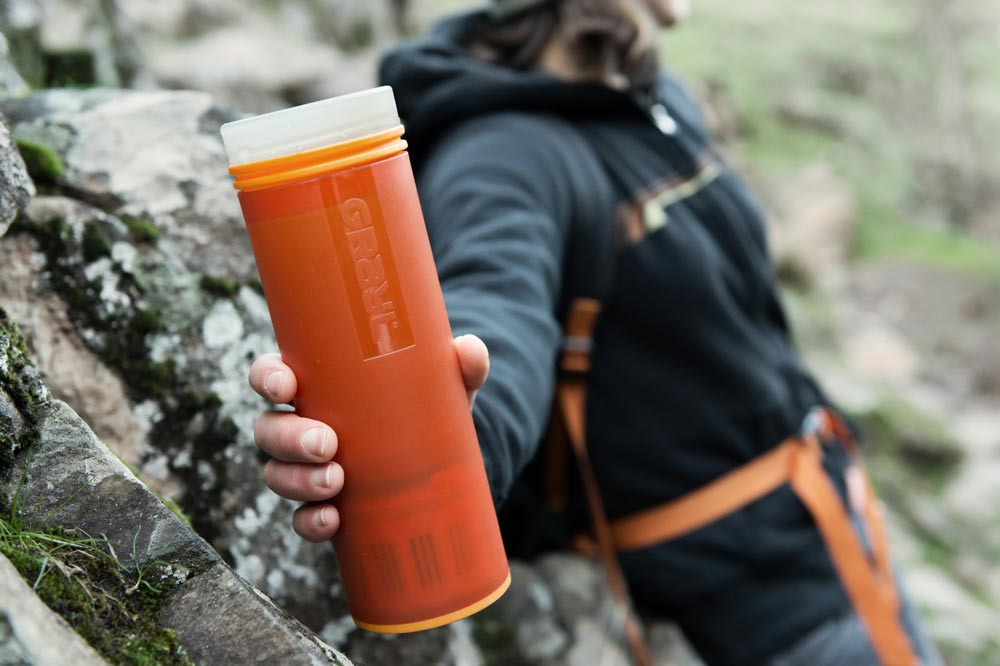 Grayl is a great alternative for filtering water on short hikes or while traveling