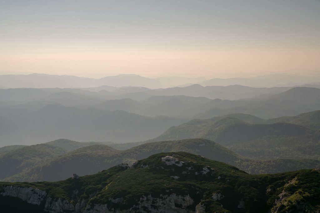 The Dinarica Alps roll into the distance providing countless layers across the Croatian Landscape.